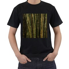 Green And Brown Bamboo Trees Men s T-Shirt (Black)