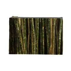 Green And Brown Bamboo Trees Cosmetic Bag (Large)
