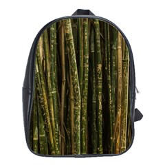 Green And Brown Bamboo Trees School Bags(Large)