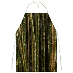 Green And Brown Bamboo Trees Full Print Aprons
