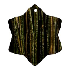 Green And Brown Bamboo Trees Ornament (Snowflake)
