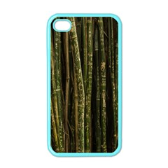Green And Brown Bamboo Trees Apple Iphone 4 Case (color)
