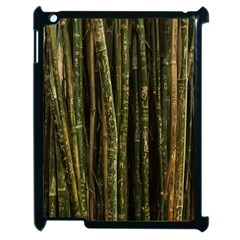 Green And Brown Bamboo Trees Apple Ipad 2 Case (black)