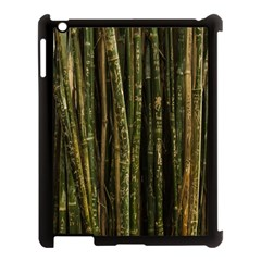 Green And Brown Bamboo Trees Apple iPad 3/4 Case (Black)