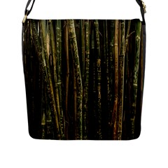 Green And Brown Bamboo Trees Flap Messenger Bag (l)