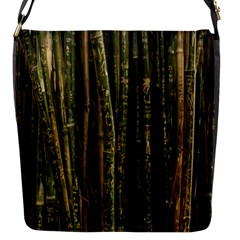 Green And Brown Bamboo Trees Flap Messenger Bag (s)