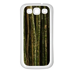 Green And Brown Bamboo Trees Samsung Galaxy S3 Back Case (white)