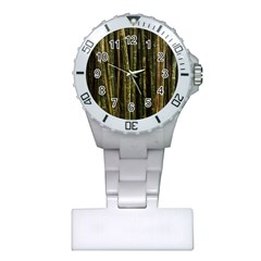 Green And Brown Bamboo Trees Plastic Nurses Watch