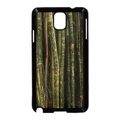 Green And Brown Bamboo Trees Samsung Galaxy Note 3 Neo Hardshell Case (black)