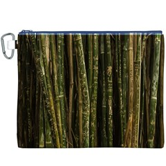 Green And Brown Bamboo Trees Canvas Cosmetic Bag (XXXL)