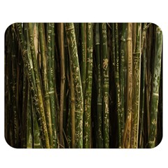 Green And Brown Bamboo Trees Double Sided Flano Blanket (Medium)