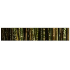 Green And Brown Bamboo Trees Flano Scarf (Large)