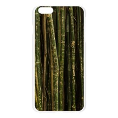 Green And Brown Bamboo Trees Apple Seamless iPhone 6 Plus/6S Plus Case (Transparent)