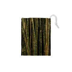 Green And Brown Bamboo Trees Drawstring Pouches (XS)