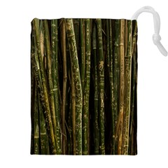 Green And Brown Bamboo Trees Drawstring Pouches (XXL)