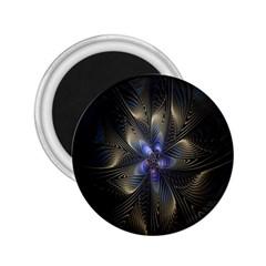 Fractal Blue Abstract Fractal Art 2.25  Magnets
