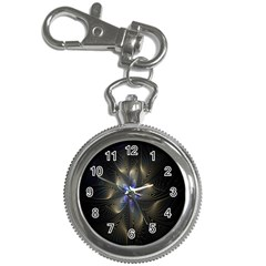 Fractal Blue Abstract Fractal Art Key Chain Watches