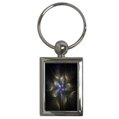 Fractal Blue Abstract Fractal Art Key Chains (Rectangle)