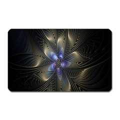 Fractal Blue Abstract Fractal Art Magnet (rectangular)