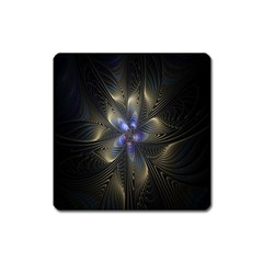 Fractal Blue Abstract Fractal Art Square Magnet