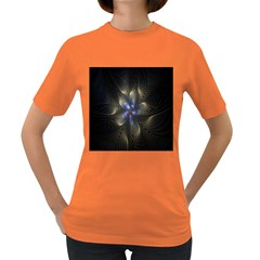 Fractal Blue Abstract Fractal Art Women s Dark T-Shirt
