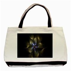Fractal Blue Abstract Fractal Art Basic Tote Bag
