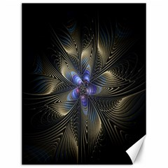 Fractal Blue Abstract Fractal Art Canvas 12  x 16