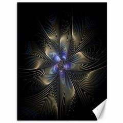 Fractal Blue Abstract Fractal Art Canvas 36  x 48