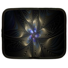 Fractal Blue Abstract Fractal Art Netbook Case (Large)
