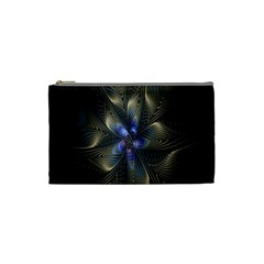 Fractal Blue Abstract Fractal Art Cosmetic Bag (Small)
