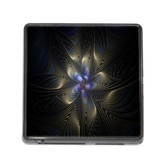 Fractal Blue Abstract Fractal Art Memory Card Reader (Square)