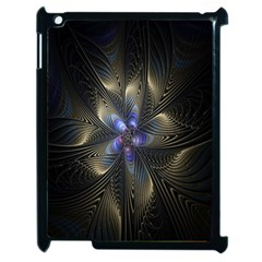 Fractal Blue Abstract Fractal Art Apple Ipad 2 Case (black)