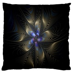 Fractal Blue Abstract Fractal Art Large Cushion Case (two Sides)
