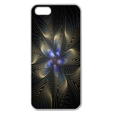Fractal Blue Abstract Fractal Art Apple Seamless Iphone 5 Case (clear)