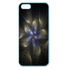 Fractal Blue Abstract Fractal Art Apple Seamless iPhone 5 Case (Color)