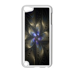 Fractal Blue Abstract Fractal Art Apple iPod Touch 5 Case (White)