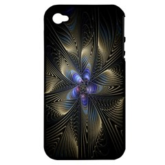Fractal Blue Abstract Fractal Art Apple iPhone 4/4S Hardshell Case (PC+Silicone)