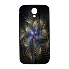 Fractal Blue Abstract Fractal Art Samsung Galaxy S4 I9500/i9505  Hardshell Back Case