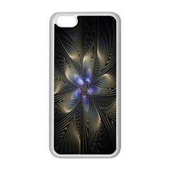 Fractal Blue Abstract Fractal Art Apple Iphone 5c Seamless Case (white)