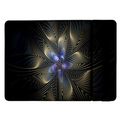 Fractal Blue Abstract Fractal Art Samsung Galaxy Tab Pro 12.2  Flip Case