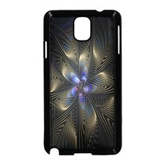 Fractal Blue Abstract Fractal Art Samsung Galaxy Note 3 Neo Hardshell Case (Black)