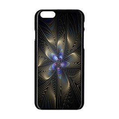 Fractal Blue Abstract Fractal Art Apple Iphone 6/6s Black Enamel Case