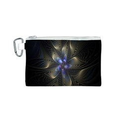 Fractal Blue Abstract Fractal Art Canvas Cosmetic Bag (S)