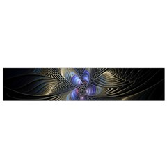 Fractal Blue Abstract Fractal Art Flano Scarf (small)