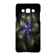 Fractal Blue Abstract Fractal Art Samsung Galaxy A5 Hardshell Case