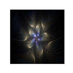 Fractal Blue Abstract Fractal Art Small Satin Scarf (square)