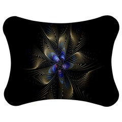 Fractal Blue Abstract Fractal Art Jigsaw Puzzle Photo Stand (Bow)