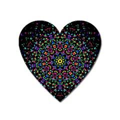 Fractal Texture Heart Magnet