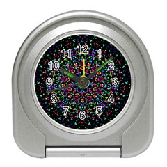 Fractal Texture Travel Alarm Clocks