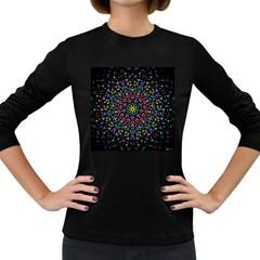 Fractal Texture Women s Long Sleeve Dark T-Shirts